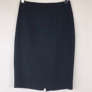 NEW MOSSIMO 2 Stretch Pencil Skirt Lined Black